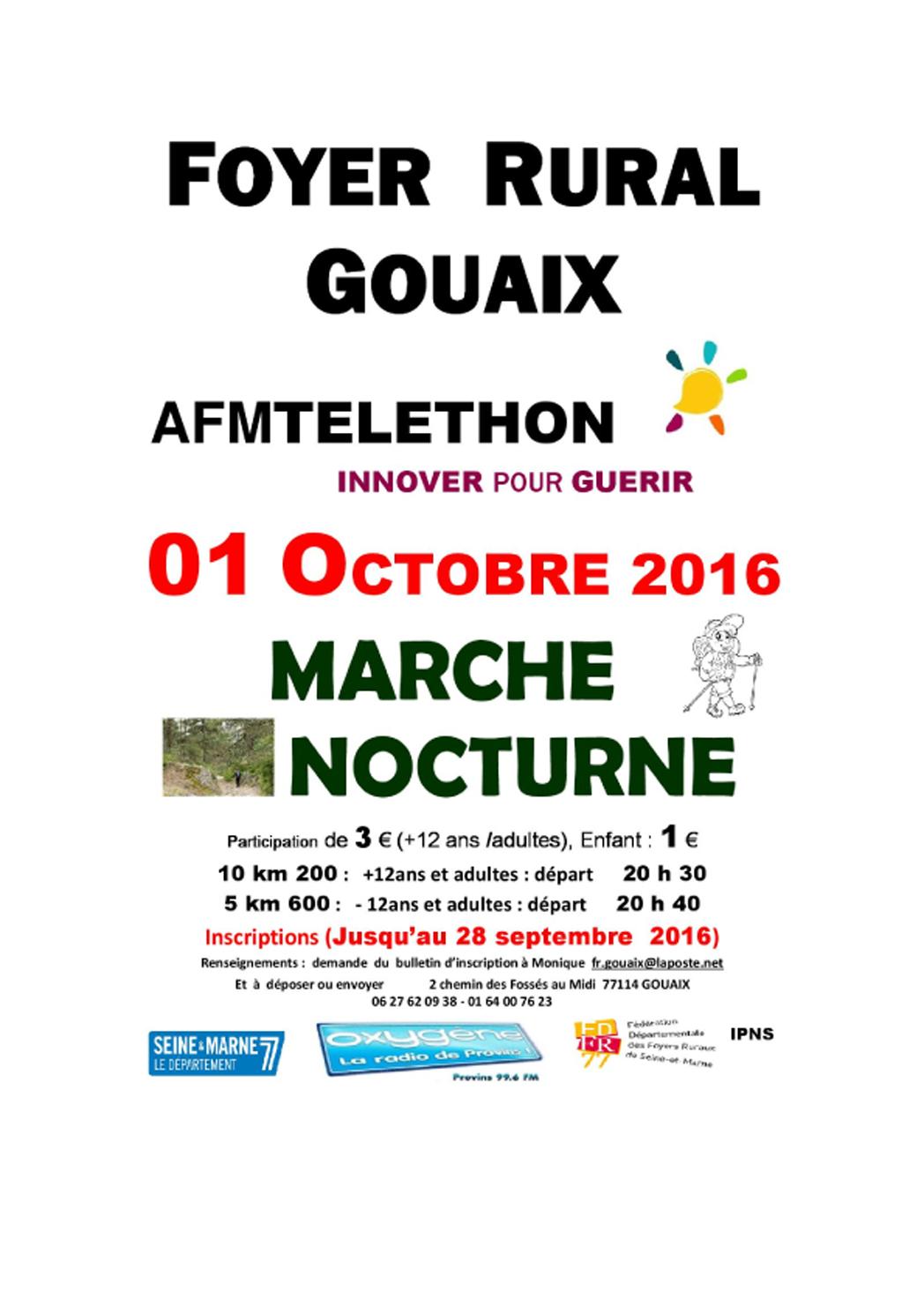 Marche Nocturne du 01 Octobre 2016