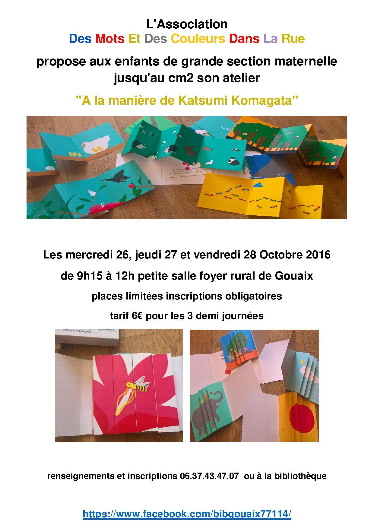 Les ateliers des mots et des couleurs dans la rue !!!