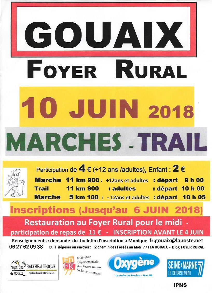 Marches et trail le 10 juin