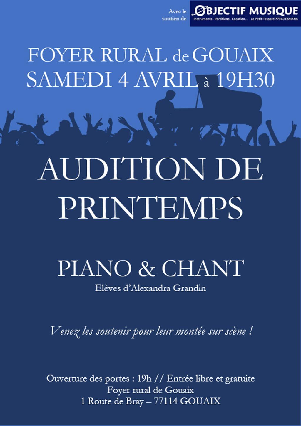 Audition de Pritemps