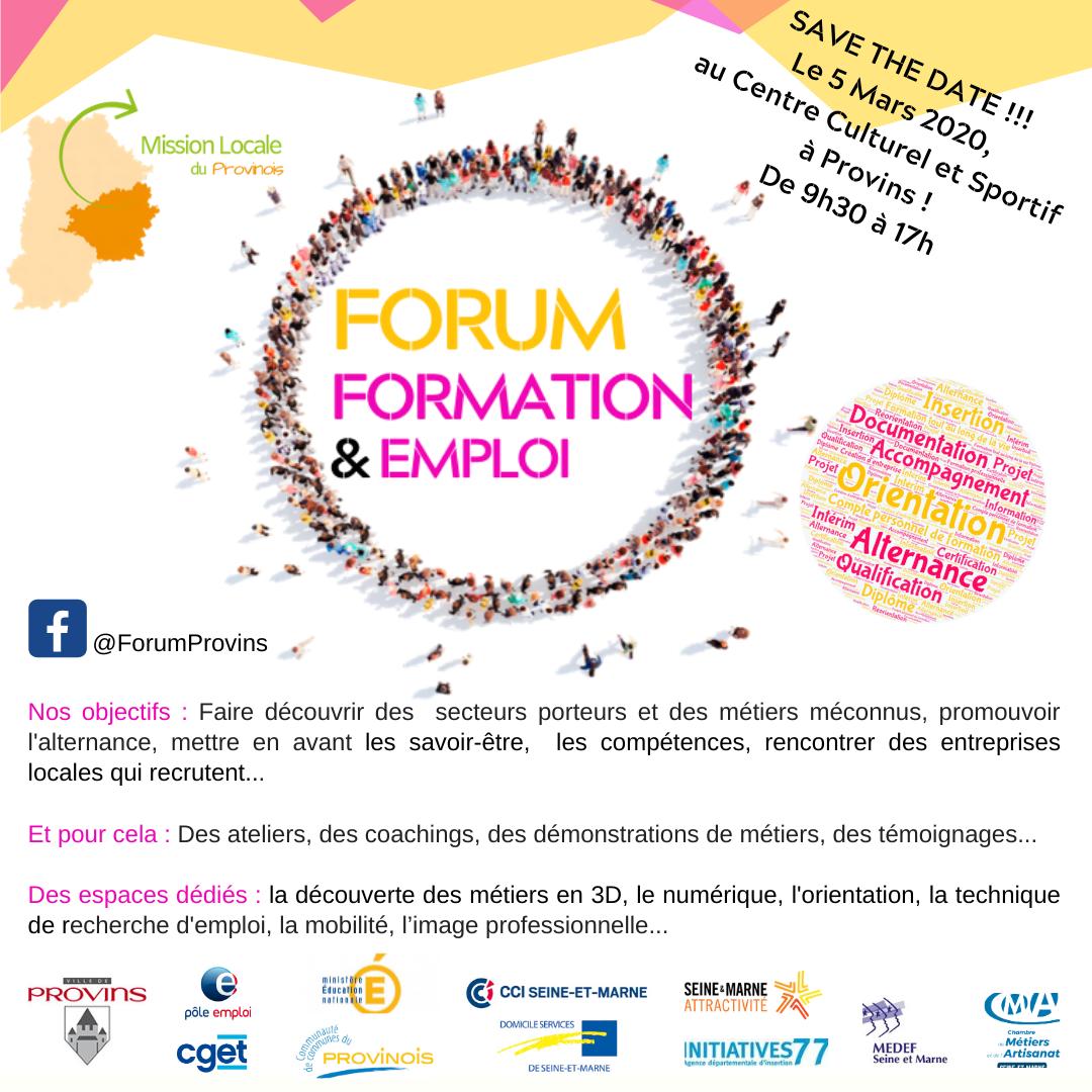 Forum FORMATION & EMPLOI à Provins
