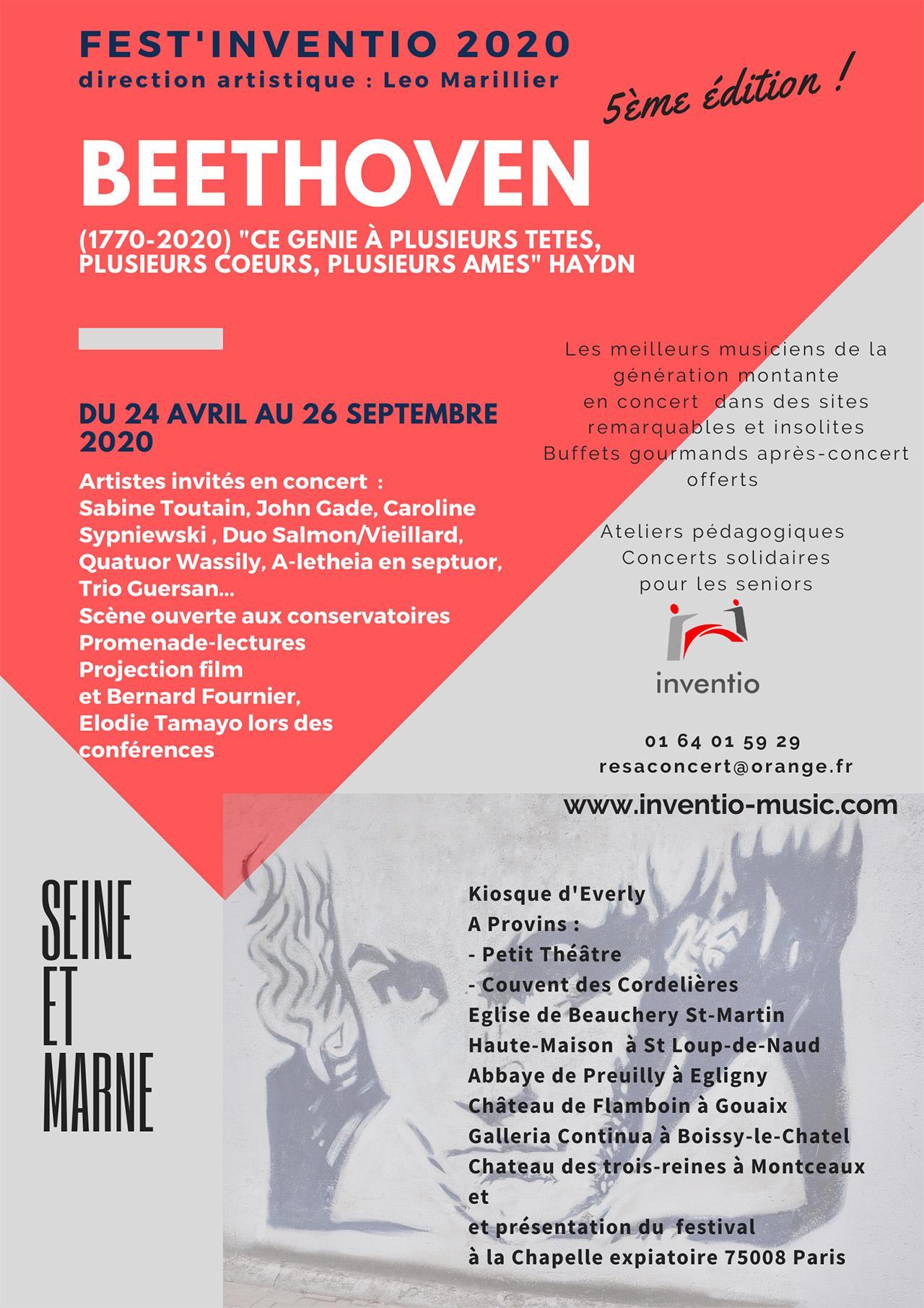 Edition 2020 Fest'inventio - Projection film « un grand amour de Beethoven »