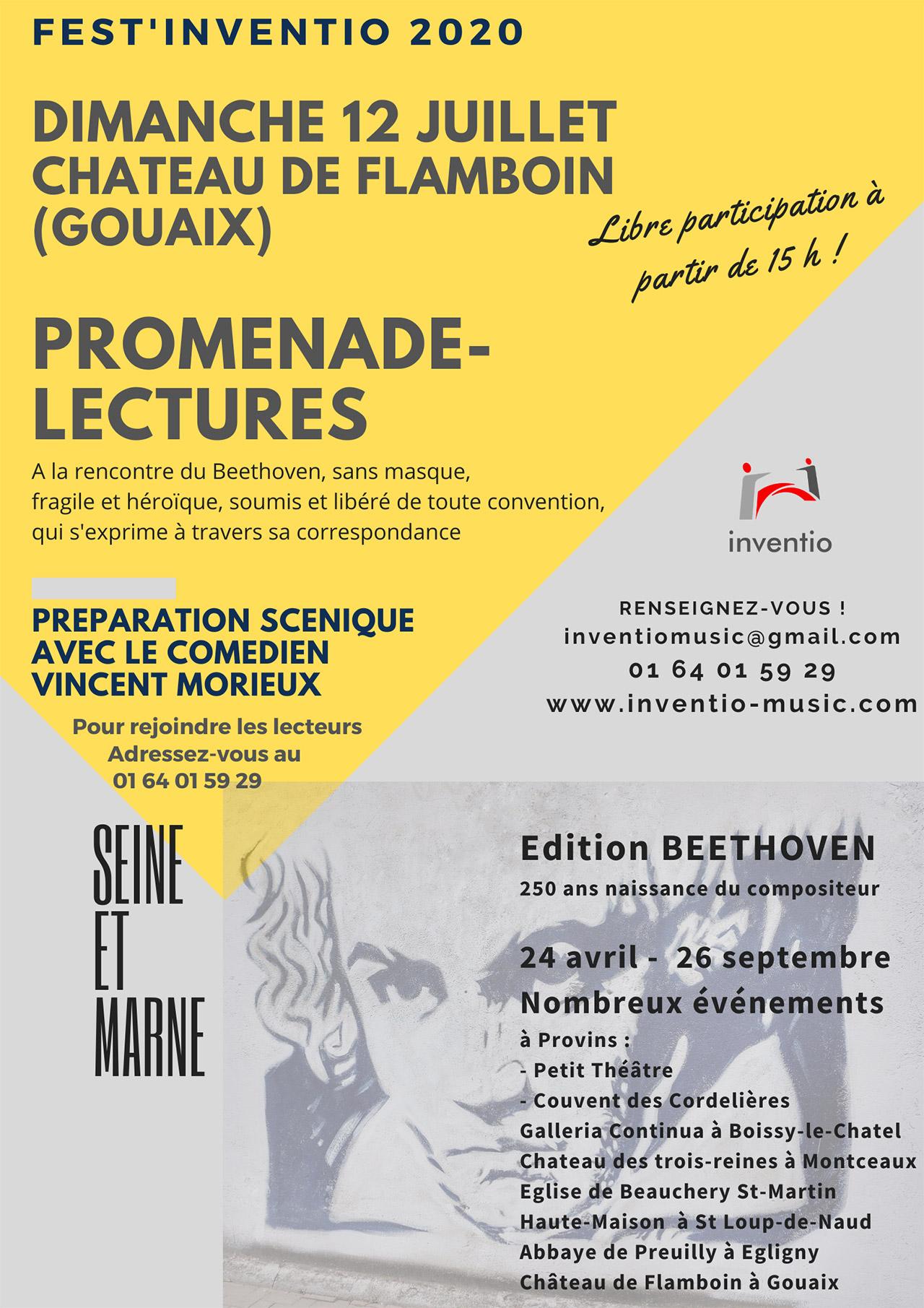 Edition 2020 Fest'inventio - Château de Flamboin à Gouaix Promenade-lectures guidée par Vincent Morieux