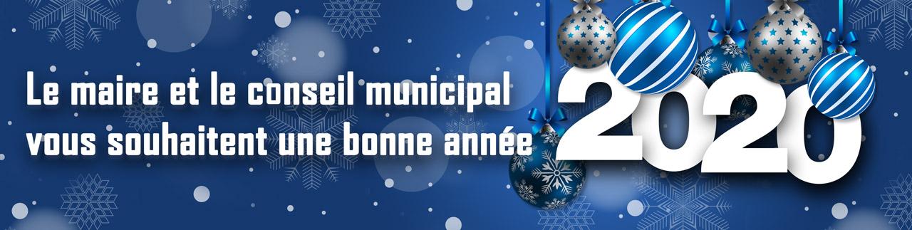 Le maire et le conseil municipal vous souhaitent une bonne année 2020.
